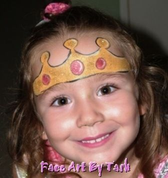 crown face paint princess