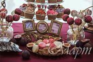 Богемная осень Все оформление в осеннем богемном стиле, с добавлением старинного золота. Яркая и насыщенная палитра осени и сладкого стола создает игривое настроение. Весь стол был оформлен в осеннем цвете: фуксия, бардо, фиолетовый, шоколадный.