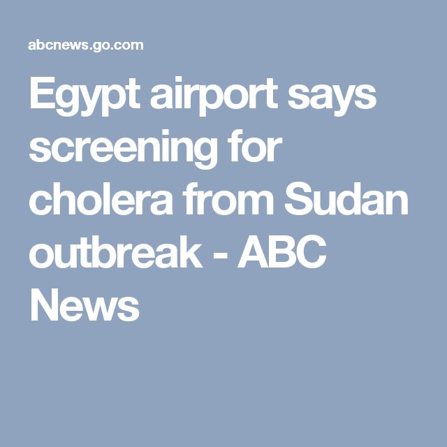 Egypt airport says screening for cholera from Sudan outbreak - ABC News