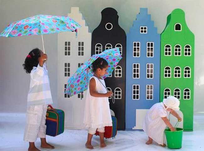 Armarios infantiles inspirados en los edificios de Amsterdam