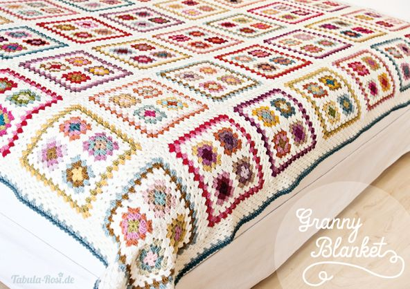 crochet gorgeous granny blanket no pattern but would be easy to reconsruct crochet things. Black Bedroom Furniture Sets. Home Design Ideas