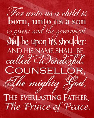 A Pocket full of  LDS prints: Christmas Scripture Print & Freebie