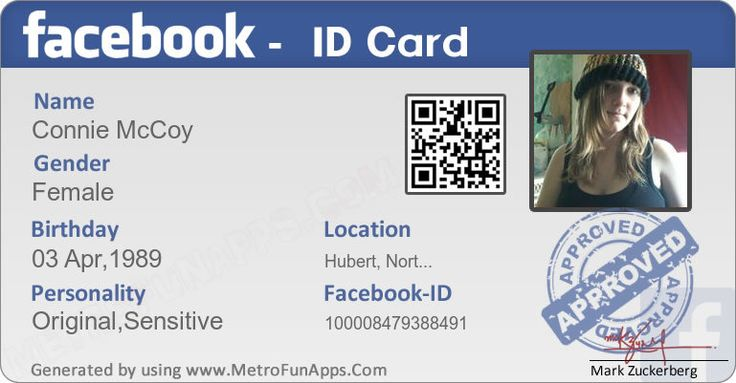 Create Your Facebook ID Card Here. Its FREE!