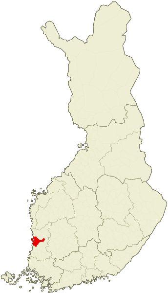 Pori, location in Finland