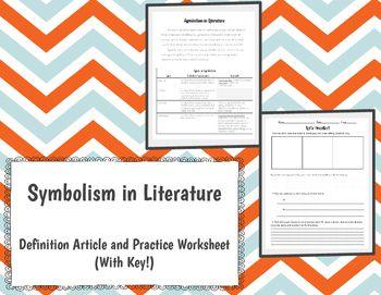 symbolism in literature activity literature activities and teacher pay teachers. Black Bedroom Furniture Sets. Home Design Ideas