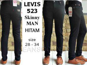 LEVIS 523 SKINNY MAN Hitam  harga eceran  Rp. 135.000 / celana (1 -2 pcs ) harga grosir Rp 115.000 /celana (3 pcs atau lebih) belum termasuk ongkir celana LEVIS 523 SKINNY MAN Hitam  bahan jeans warna Blue Jeans ukuran 28-34 Pemesanan via SMS Anda dapat melakukan pemesanan melalui SMS dengan format sebagai berikut:  Nama | Alamat Lengkap | Produk Yang Dipesan | Jumlah Pesanan  kirim ke 085701111960 pengiriman dari jakarta.