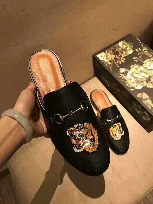 Leather slippers, Half shoes, Slippers