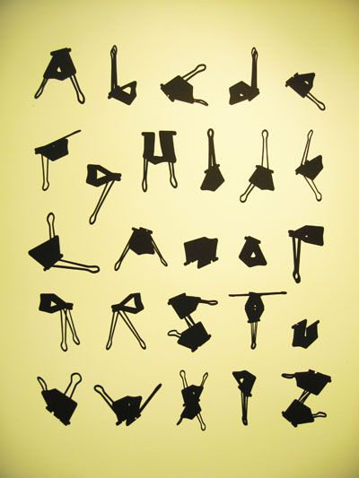 bulldog clip typeOffices Clips, Offices Spaces, Binder Clips, Types Design, The Offices, Clips Alphabet, Dave Wood, Offices Supplies, Clips Art