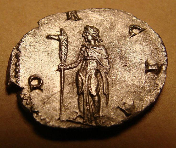 Dacia with draco on antoninianus of Trajan Decius, 250-251 CE