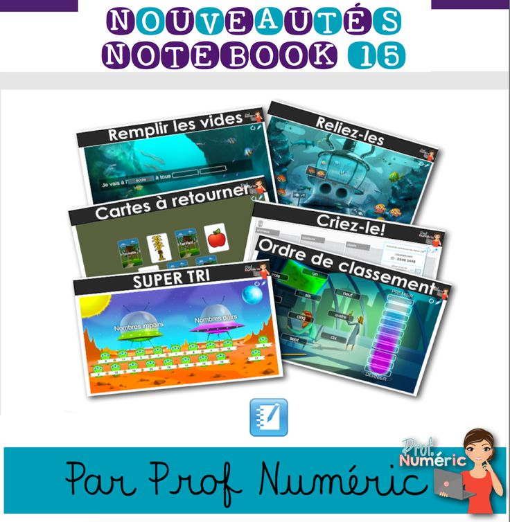 Créateur d'activités de Notebook 15/6 nouveaux modules interactifs. #SmartNotebook #EdTech #FrenchEdTech #Notebook #TBI