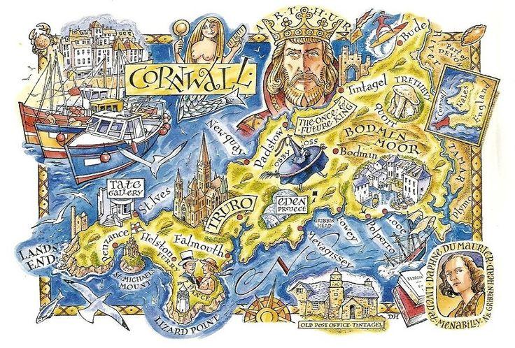 David Hobbs Map of Cornwall