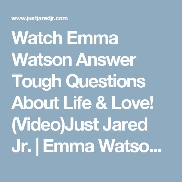 Watch Emma Watson Answer Tough Questions About Life & Love! (Video)Just Jared Jr. | Emma Watson : Just Jared Jr.