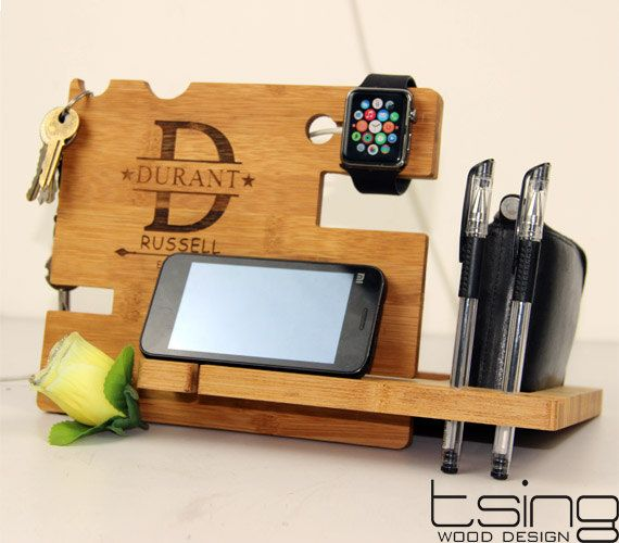 Custom Wooden Dock and Charging Station For iPhone by TsingDesign