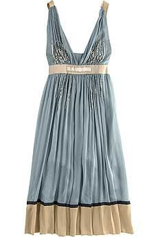 Alberta Ferretti Grecian Style Silk Dress: Silk Dresses, Dresses Fashion, Style, Color, Blue, Bridesmaid, Book, Tans Dresses, Grecian Dresses
