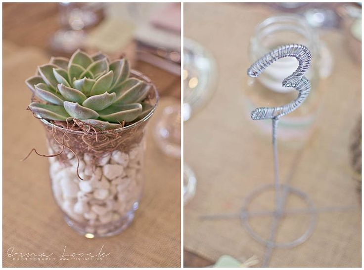 Erna Loock Photography: { Forever } Hanri + Jacques Part One Rustic Romance Wedding Wire Table Number Desert Rose Decor