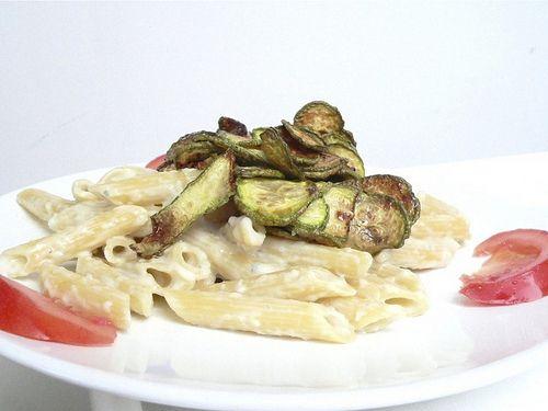 Pasta Crema di Gorgonzola, Zucchine e Pomodori col Bimby