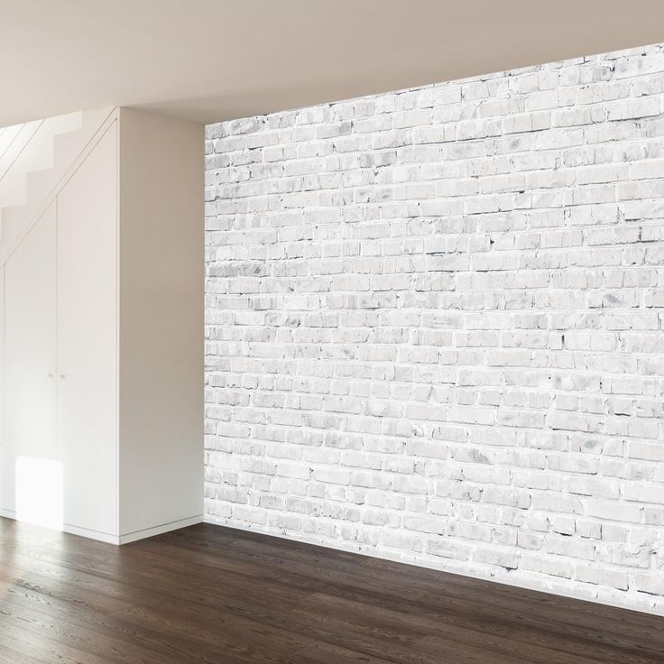 White Washed Brick Wall Mural Decal from WallsNeedLove. Shop more products from WallsNeedLove on Wanelo.