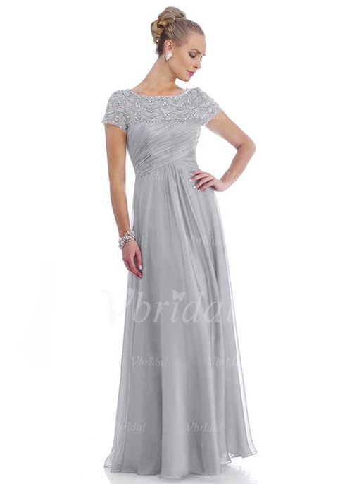 Mother of the Bride Dresses - $151.88 - A-Line/Princess Scoop Neck Floor-Length 30D Chiffon Mother of the Bride Dress With Ruffle Lace Beading (0085059436)
