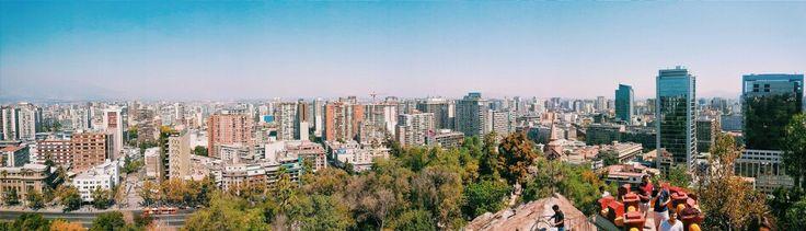 Día XVI   Santiago de Chile desde Cerro de Santa Lucía  VSCO   http://vsco.it/1FdAqOr  #vscocam #vsco #castzam #photography #Santiago #Chile #Traveling #wanderlust #Panorámica