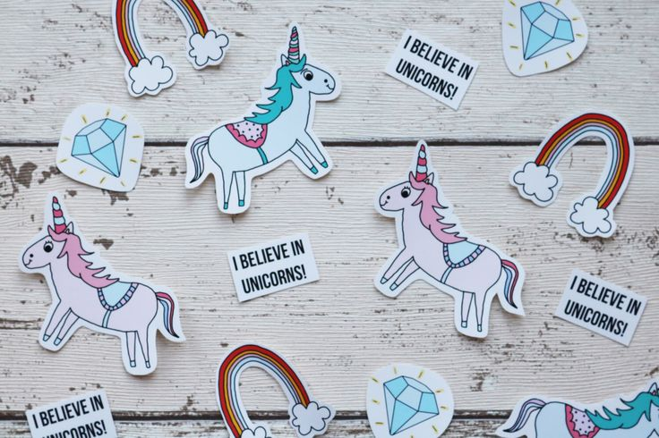 A personal favourite from my Etsy shop https://www.etsy.com/uk/listing/491118242/magical-unicorn-stickers-set-of-24