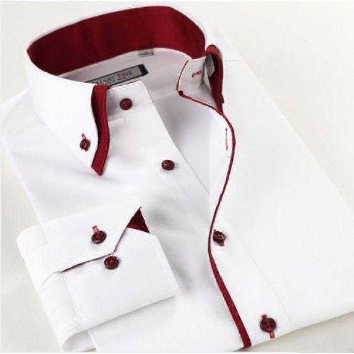 Smart Five Men Double Collar Slim Fit Long Sleeve Shirt