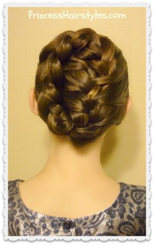French braid tuck, holiday updo tutorial