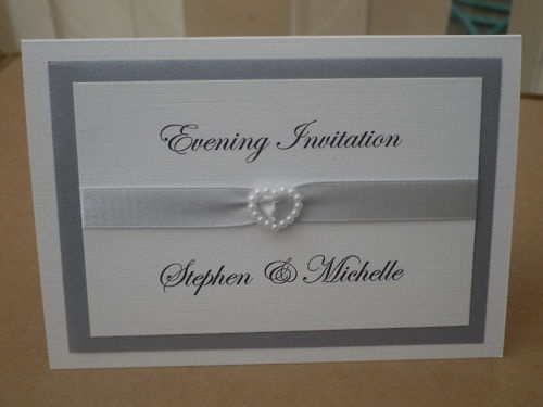 Hand made 10 Wedding  Invitations (see listing for a choice of colours )  rag_dolluk on ebay