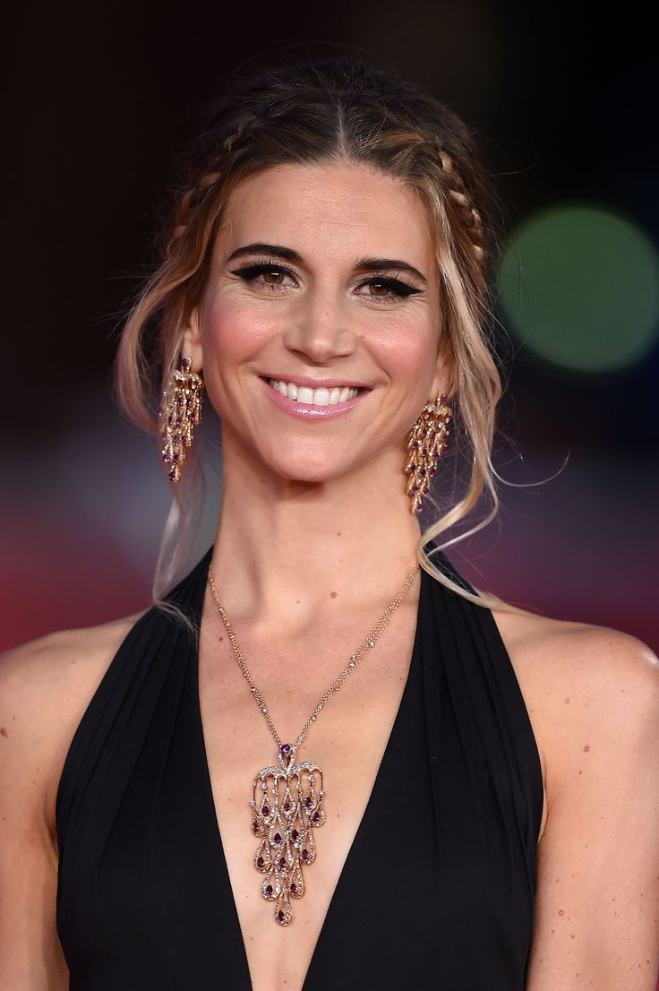 The patroness of the 9th Rome Film Festival, Nicoletta Romanoff, wearing Damiani jewels