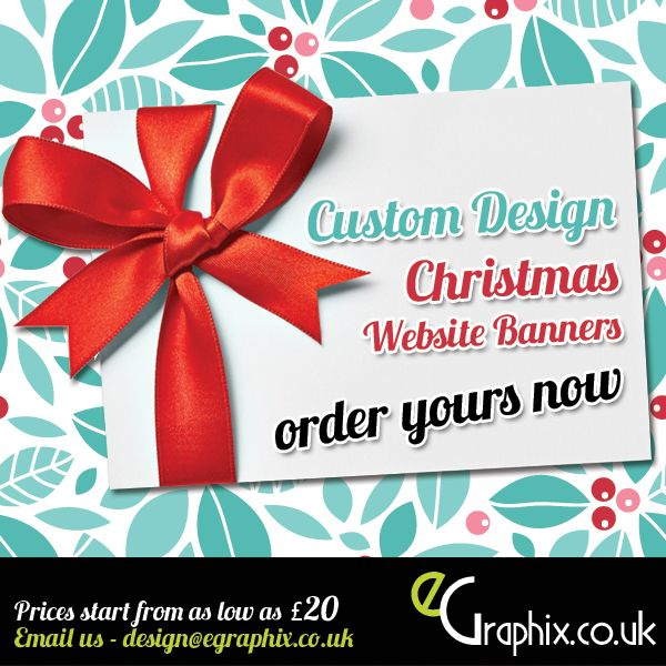 Custom Christmas Banners for Websites from just £20. email us for details and to place your order. email us at design@egraphix.co.uk