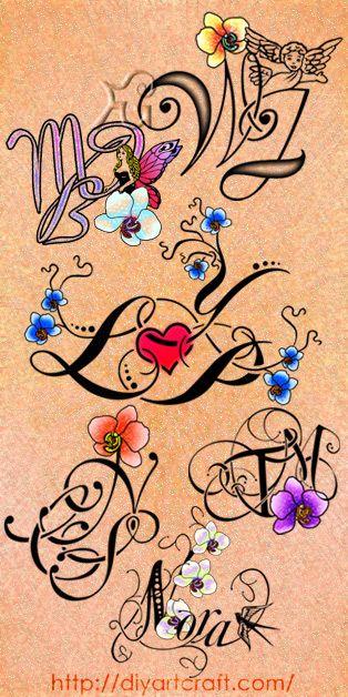 #orchidea #tattoo #poster http://diyartcraft.com/bellezza-dei-fiori-di-orchidea-colorata-in-6-intrecci-grafici-per-tattoo/