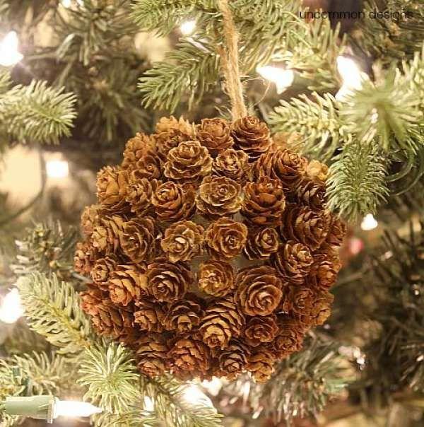 14 Décorations DIY avec des pommes de pin pour rendre Noël encore plus festif