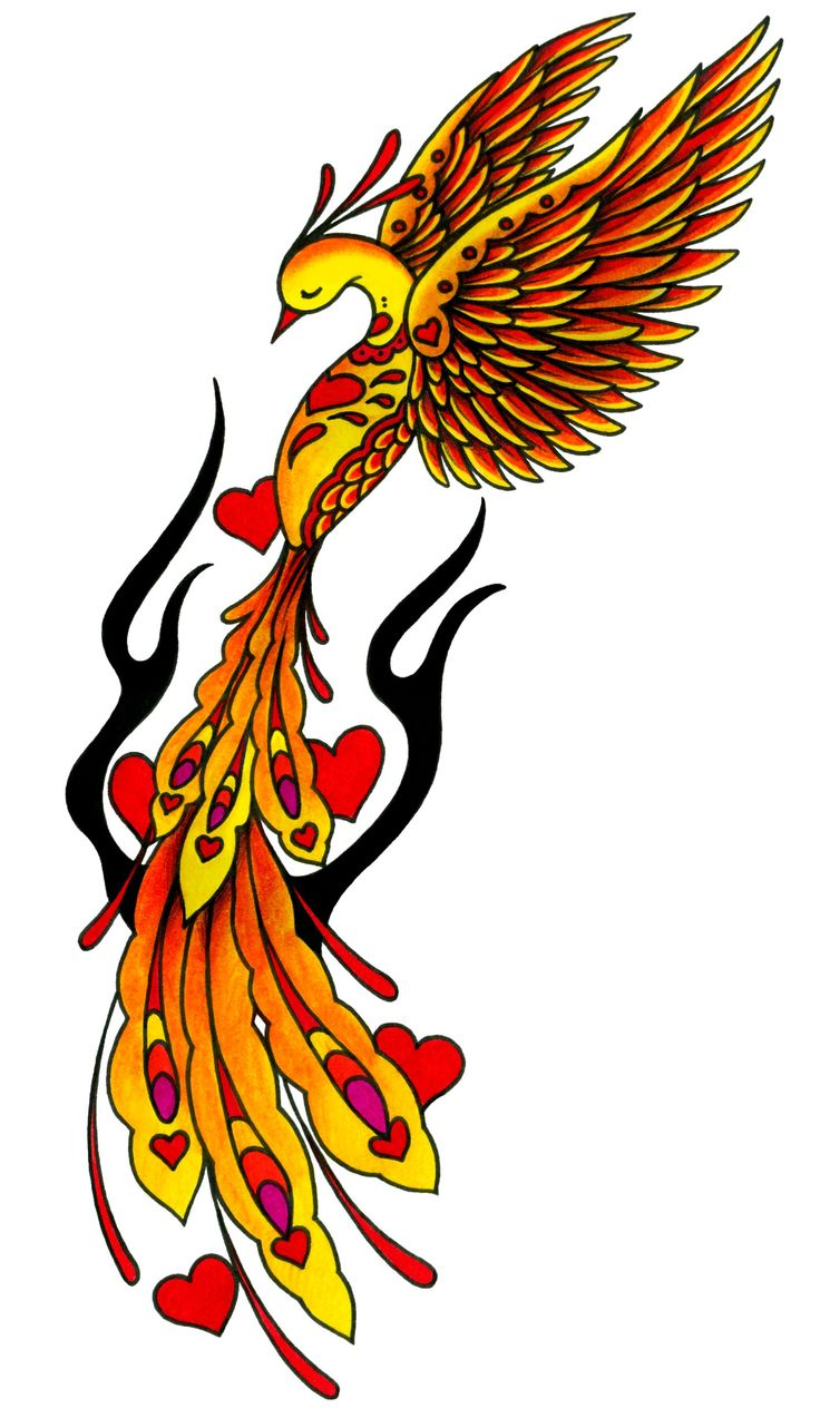 Phoenix tattoo design