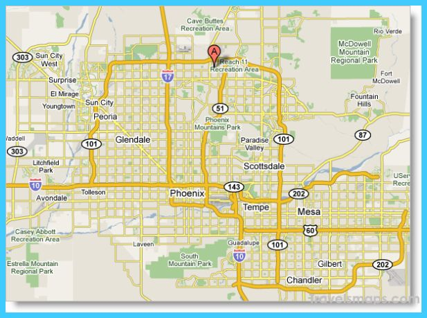 awesome Map of Phoenix Arizona