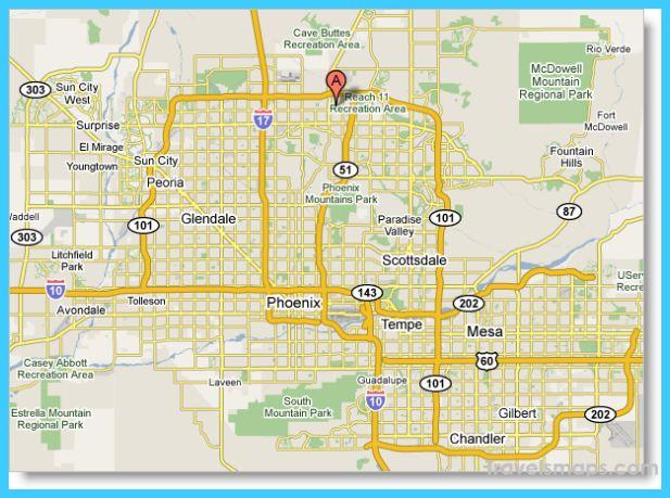 awesome Map of Phoenix Arizona