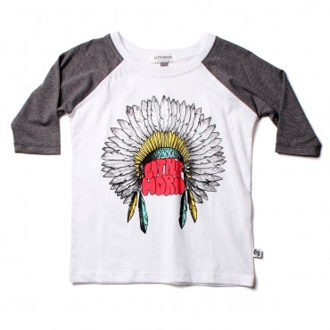 Little Horn - Little Chief raglan tee