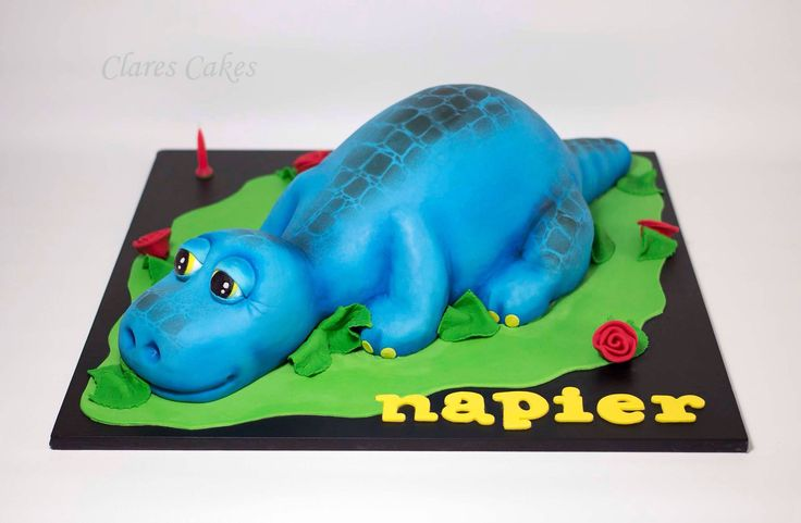 Baby Dinosaur cake. Design by Chocolate Earth