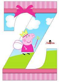 Resultado de imagen para abecedario cumpleañod peppa pig