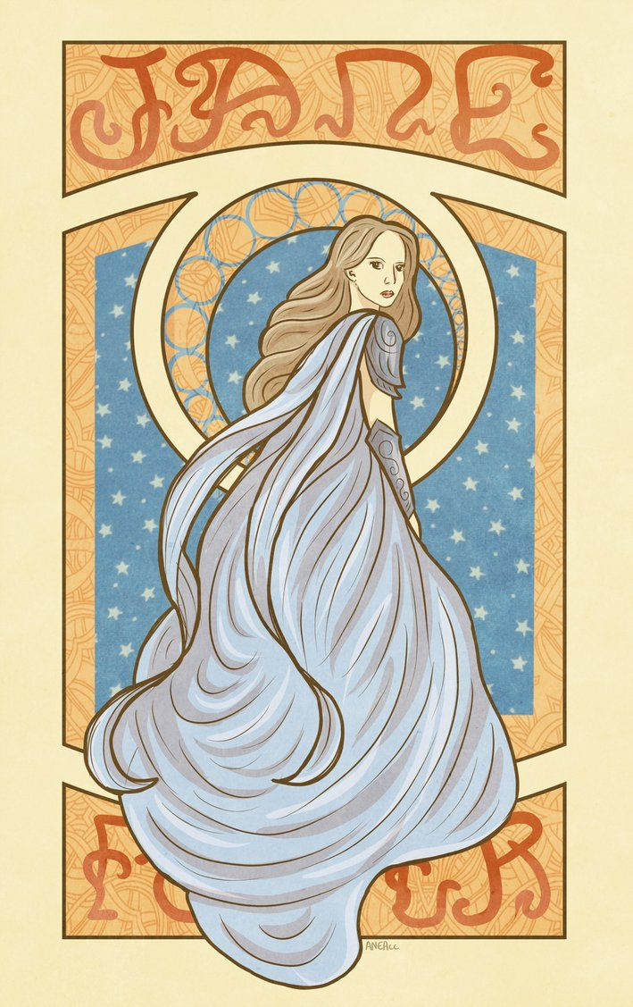 Jane Foster Art Nouveau Inspired by AneaCC