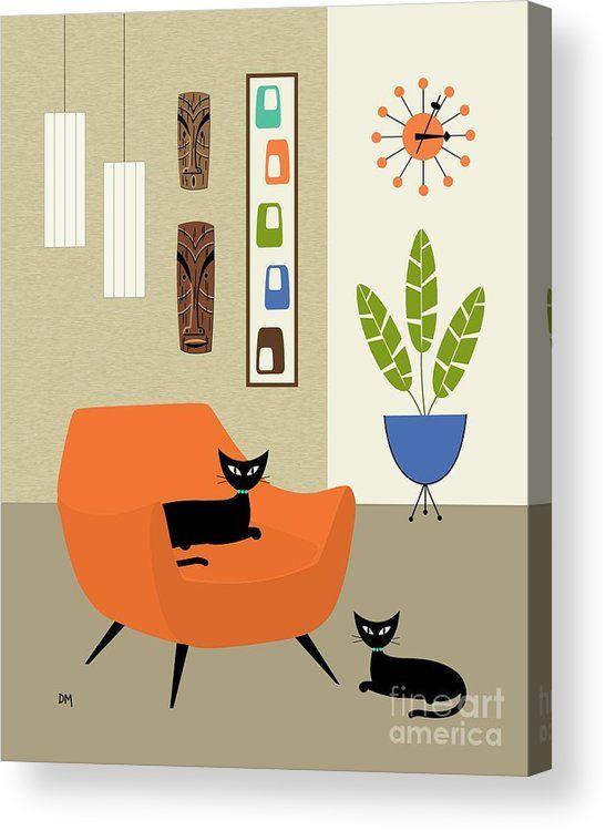 Tikis en la pared Lámina acrílica de Donna Mibus. Todas las impresiones acrílicas son profesio …