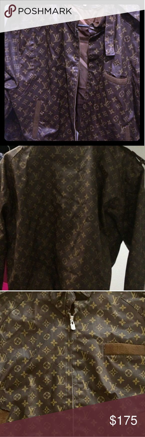 Louis Vuitton Jacket/Bomber 80s Louis Vuitton Leather Bomber: VERY RARE PIECE OF HISTORY Dapper Dan Bomber made by hand in the 80s. Great Condition! Only one small tear on Callar  Size: Medium Louis Vuitton Jackets & Coats