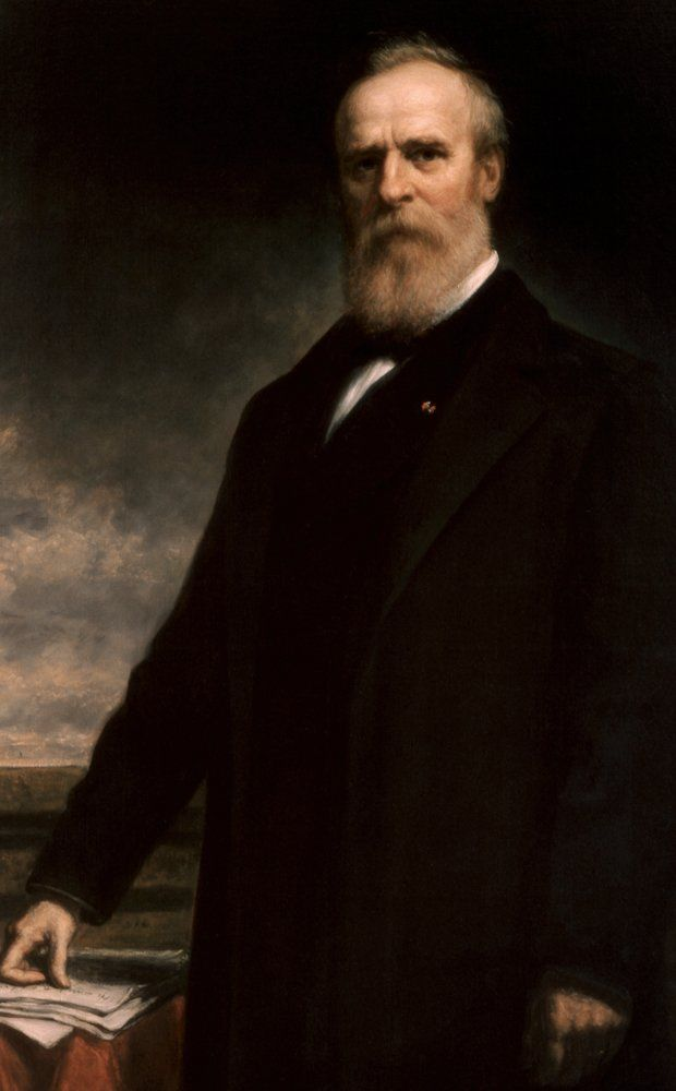 Official White House portrait of President Rutherford B. Hayes (1877-1881). 19th