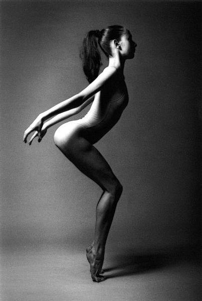 'Danseuse Belge', photographed by Jeanloup Sieff in Paris, 1994.