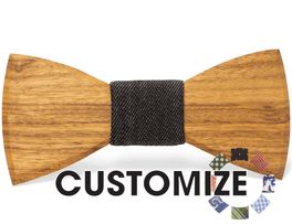 Custom Bow Tie and  wood brimmed fedora!