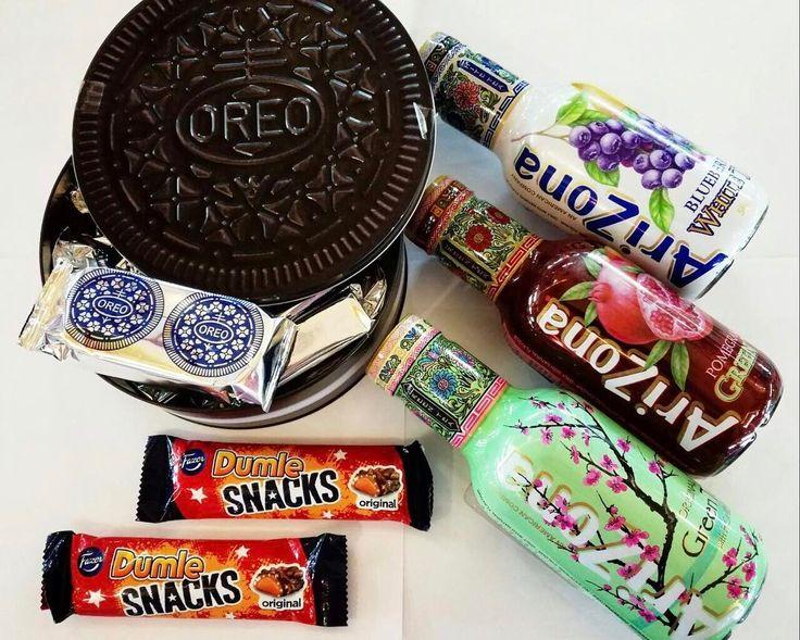 Шоколад Dumle snacks 115p Напиток Arizona 199p Печенье Oreo в жестяной банке 1290р #wanttasty #сладостиизсша #сладостиизамерики #сладостиизевропы