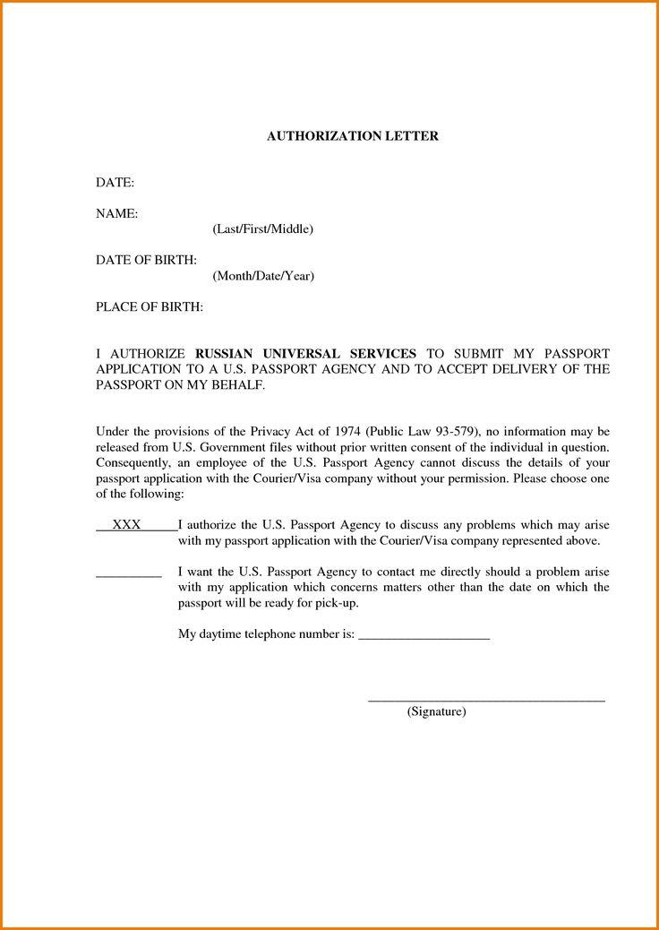 Authorization Letter Sample To Act On Behalf Authorization