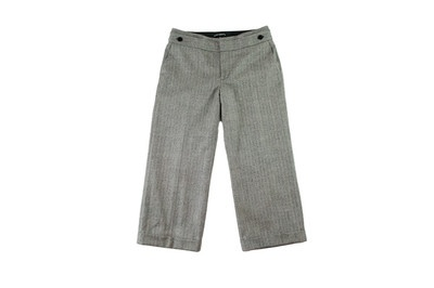 Club Monaco Gray Herringbone Tweed Cropped Trousers Size 6 at http://stylemaiden.com