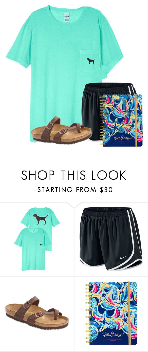 """""""Really want this agenda for school"""" by flroasburn ❤ liked on Polyvore featuring NIKE, Birkenstock and Lilly Pulitzer"""