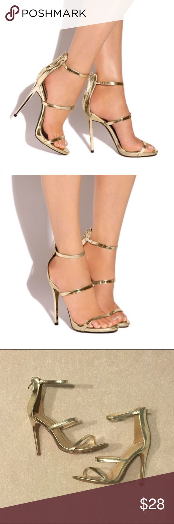 ⚡️sale⚡️Gold straps heels holiday dressy Brand new no shoebox 28 Shoes