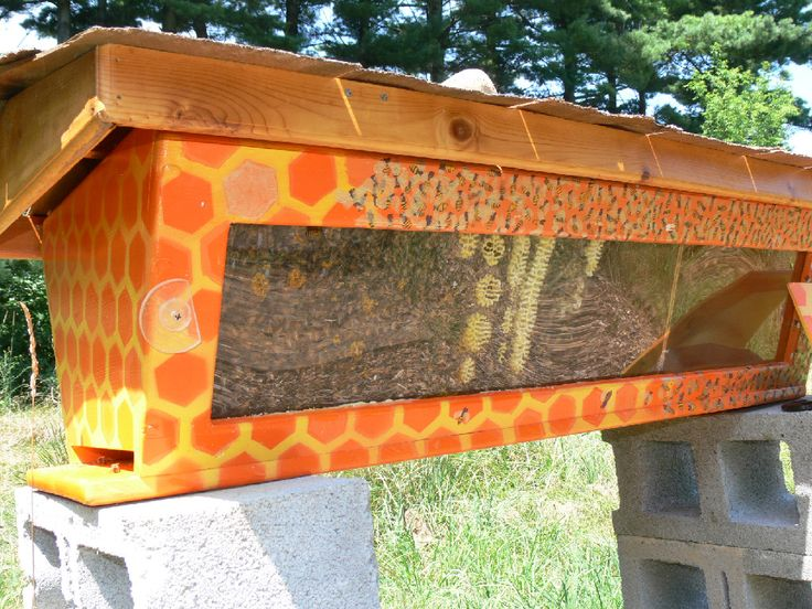 Beau Painted Beehive · BeekeepingTop Bar ...