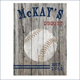 Personalized Baseball Canvas Print